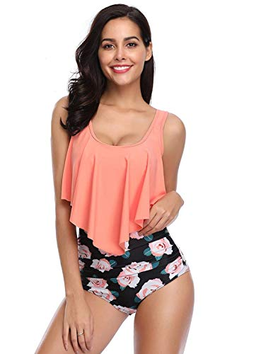 MITALOO Swimsuit Two Pieces Women Bathing Suits Racerback with High Waisted Bottom Tankini Set