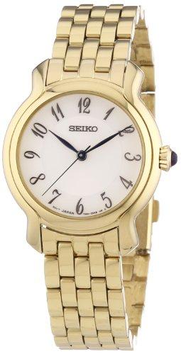 Seiko SRZ392P1 - Reloj analógico de Cuarzo para Mujer, Correa de Acer