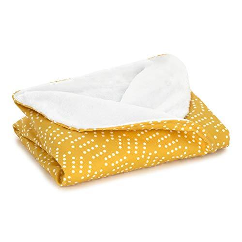 Arrullo bebé recien nacido. Toquilla o manta para hospital de 70x90 para arrullar al bebe. Mantita ideal para entretiempo. Swaddle (Mostaza)