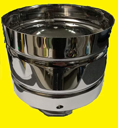 Sombrerete antiviento de acero inoxidable AISI 3045/10para chimenea, enganche redondo de 80 mm,hembra
