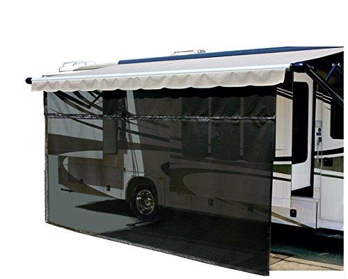 Carefree 701508 Black 15' x 8' Drop RV Awning EZ ZipBlocker