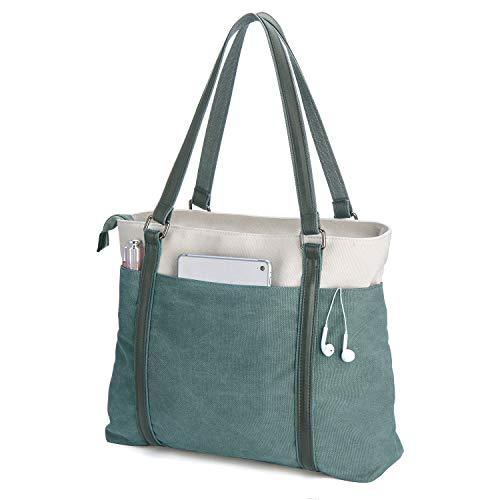 Women's Work Bag with Laptop Compartment Zipper Pockets Teacher Totes Purse