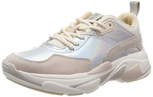 Pepe Jeans SINYU Reflect, Zapatillas para Mujer, Silber (Silver 934), 37 EU