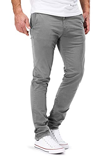 DSTROYED ® Chino Herren Slim fit Chinohose Stretch Designer Hose Neu 505 (33-32, 505 Hellgrau)