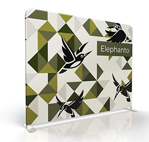 Klemp - tentoonstellingswanden textielwand wand wand tentoonstelling - Elephanto 2-seitig 240cm