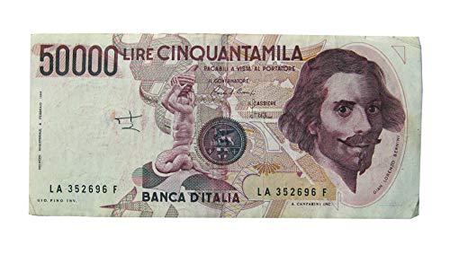 BANCONOTA DA 50000 LIRE GIAN LORENZO BERNINI 6 FEBBRAIO 1984