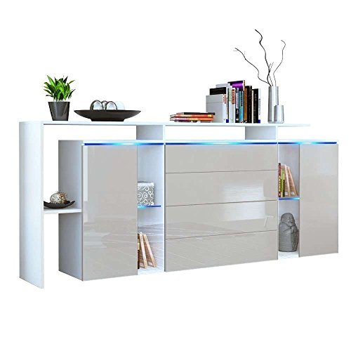 Credenza moderna modello Lecce L185, mobile bianco e grigio tortora disponibile in 13 finiture art.3214