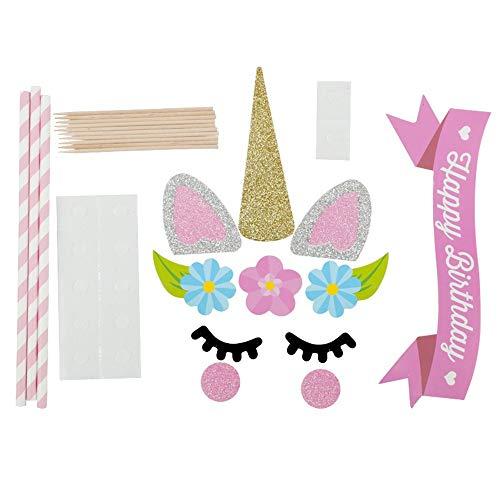 Zleimjab Exquisito Decoración De La Fiesta Topper De Pastel De Cumpleaños para Baby Shower Boda Y Fiesta De Cumpleaños
