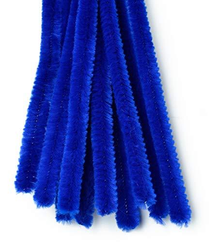 VBS Chenilledraht 50cm, 10 Stück Blau