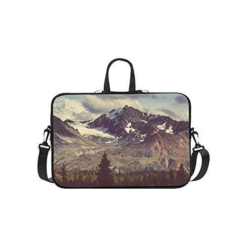 Landschaften auf Denali Highway Alaska Instagram Filter Aktentasche Laptoptasche Messenger Schulter Arbeitstasche Crossbody Handtasche für Geschäftsreisen