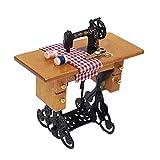 Tiranranrt Máquina de educación con rosca para madera 1/12 casa de muñecas miniatura muebles de costura