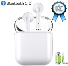 Wireless Bluetooth Earbuds with Portable Charging Case | Anti-Sweat Earplugs Gym Running | Long Battery Life | in-Ear Noise Cancelling Stereo Headset | for All Smartphones