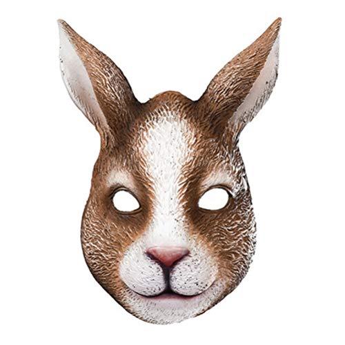 Mscara de Conejo de Pascua, Sombrero de Len, Cosplay, Fiesta de Carnaval, Disfraz de Conejo, Cubierta de Cara de Conejo Animal para nios y Adultos