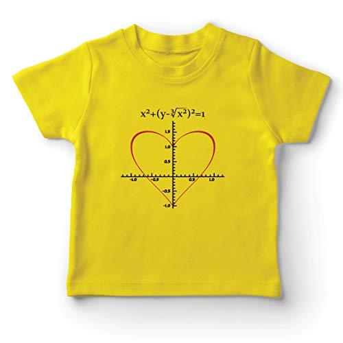 lepni.me Camiseta para Niño/Niña Fórmula de Matemáticas del Amor Ecuación matemática Regalo para el Profesor (1-2 Years Amarillo Multicolor)