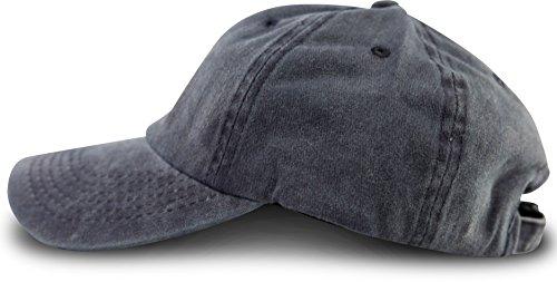 fashionchimp ® Baseballcap im Vintage Used-Look aus 100% Baumwolle, Unisex Jeans Denim Cap (Navy-Blau)