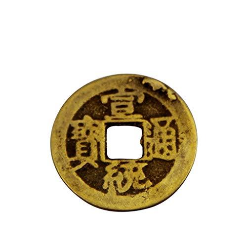 YIFEI2013-SHOP Estatua de Buda de 0,9 pulgadas 2,2 cm monedas de la fortuna chinas Feng Shui I-ching Monedas chinas de buena suerte Moneda antigua dinastía china (20 piezas)