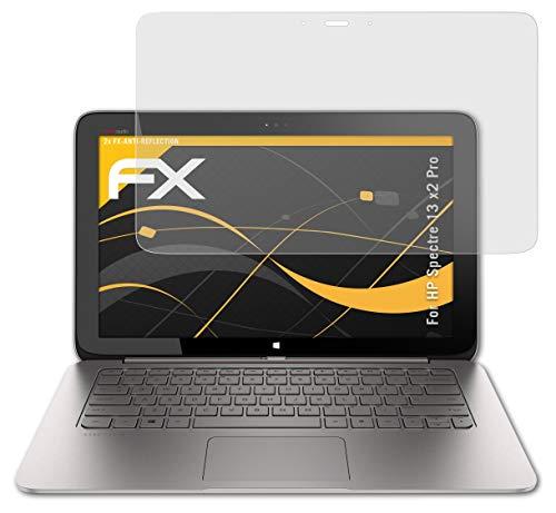 atFolix Panzerfolie kompatibel mit HP Spectre 13 x2 Pro Schutzfolie, entspiegelnde & stoßdämpfende FX Folie (2X)