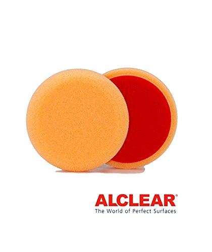 ALCLEAR 558030AH Polierpad gegen Hologramme, Auto Polierschwämme, Durchmesser: 80x25 mm, orange,2er Set, Polierpad polieren Pad Schwamm Polierschaum f. Poliermaschine