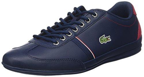 Lacoste Herren Misano Sport 118 1 Cam Sneaker, Blau (Nvy/Red), 41 EU