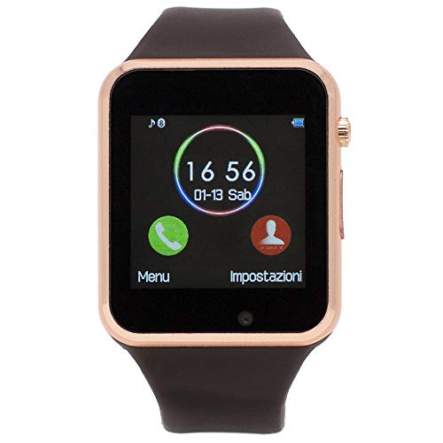 CEKA TECH Bluetooth Smart Watch, con fotocamera, touch screen curvo, supporto per scheda SIM/TF,...