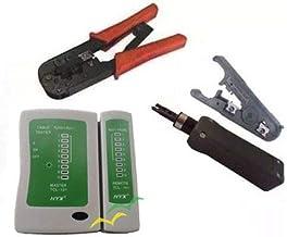Kit 85 - Alicates: Punch down, crimpagem e decapador universal + testador de cabo de rede
