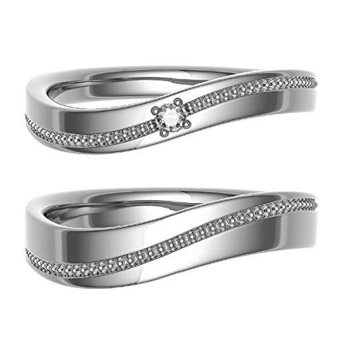 [ココカル]cococaru ペアリング 結婚指輪 K10ゴールド 2本セット マリッジリング ダイヤモンド 日本製(レディースサイズ4号 メンズサイズ14号)