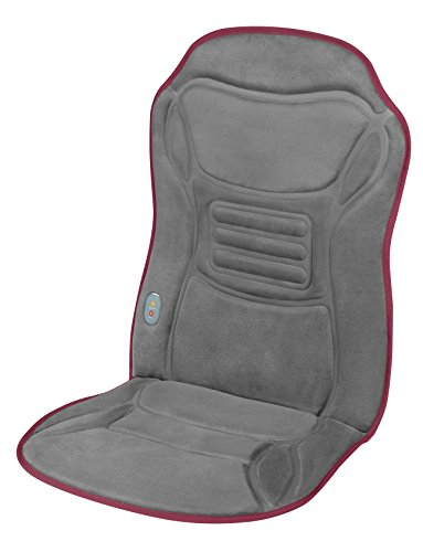 Ecomed MC-85E massagekussen voor auto, massagestoelkussen met trillingsmassage, warmtefunctie, 2 intensiteiten, voor ontspanning voor de hele rug
