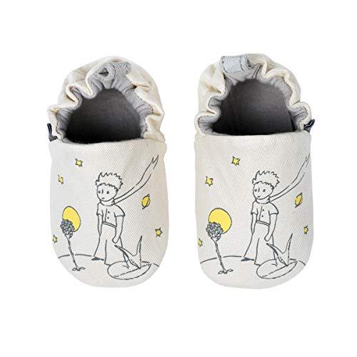 Le Petit Prince Unisex Baby MES Premiers Chaussons Flache Hausschuhe, Beige (Crème 13-0756tpx), 6-12 Mois