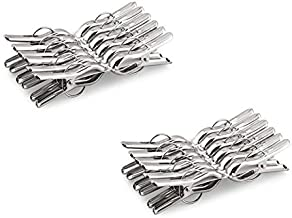 Sajani Stainless Steel Multipurpose cloth clips (Set of 24)