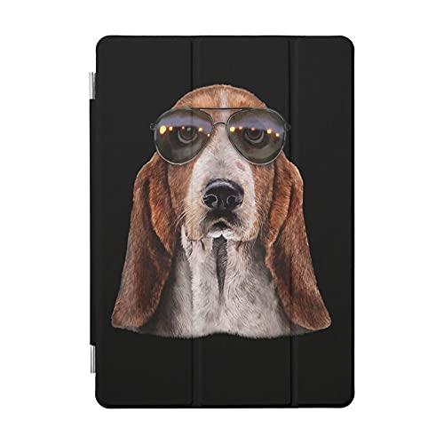Funda para iPad Basset Hound con gafas de sol de aviador, funda para iPad 2020 Pro, funda ultrafina y ligera, funda protectora para iPad 2020 Pro