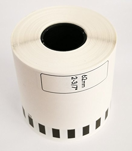 Compatible DK-2212 Continuous Length Film Tape with 1 Reusable Cartridge (4 Rolls)