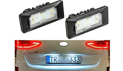 2x Neu LED SMD Kennzeichenbeleuchtung Nummernschildbeleuchtung Weiß (ADPN)
