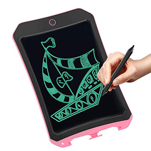 VNVDFLM Drawing and Writing Board for Kids Toys for 8-12 Years Old Teens, 8.5 inch LCD Graffiti Board for Children &Adults Graphics Tablet for School and Office(DS-Pink)