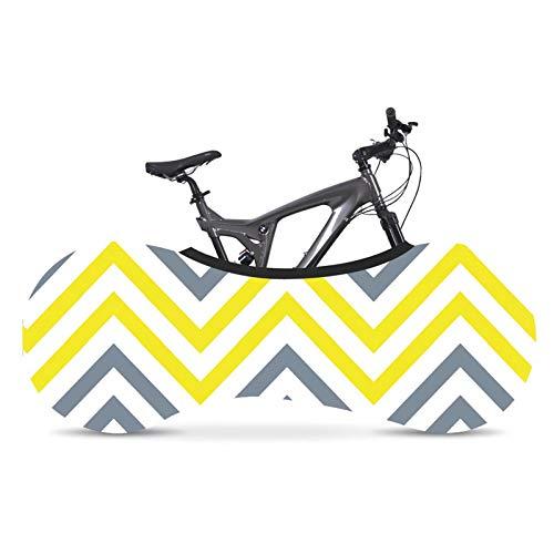 Cubierta Protectora De Bicicleta, Cubierta Protectora De NeumáTicos A Prueba De Polvo Y Sol, Cubierta De AutomóVil DoméStica Transpirable A Rayas, Adecuada Para Bicicletas De MontañA,#1,160*55cm