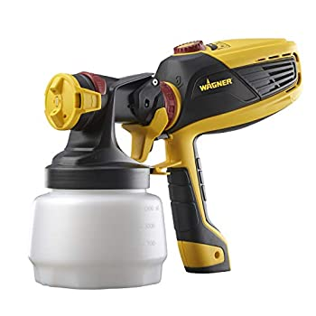 Wagner Spraytech 0529010 FLEXiO 590 Handheld HVLP Paint Sprayer Sprays Unthinned Latex Includes Two Nozzles - iSpray & Detail Finish Nozzle Complete Adjustability for All Needs