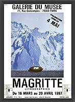 ポスター ルネ マグリット Galerie Du Muse 1987 額装品 ウッドベーシックフレーム(ブラック)