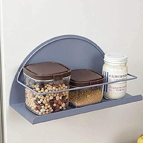 LITINGT Nordisk järn magnetisk förvaringsställ kylhylla väggpappershållare hemförvaringshållare köksverktyg för bra cola (färg: Blå A storlek: Gratis)