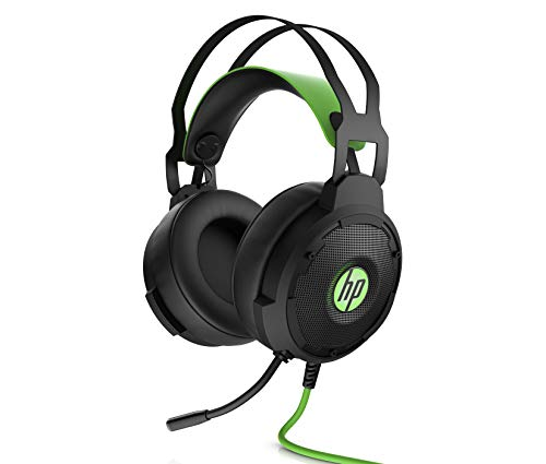 HP Pavilion Gaming 600 Headset with Green LED Ear Cup Lighting, 3.5 mm, 7.1 Virtual Surround Sound for Xbox One, PS4, PC & Phone