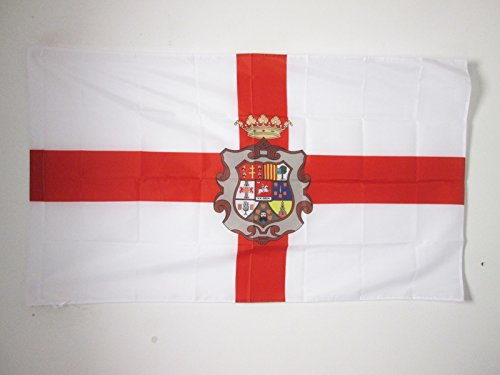 AZ FLAG Bandera de la Provincia DE HUESCA 150x90cm para Palo - Bandera HUESCA ENARAGÓN 90 x 150 cm