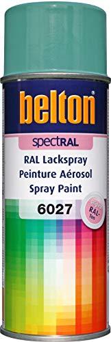 belton spectRAL Lackspray RAL 6027 lichtgrün, glänzend, 400 ml - Profi-Qualität