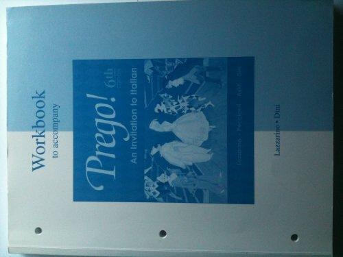 Prego! An Invitation to Italian (Workbook)