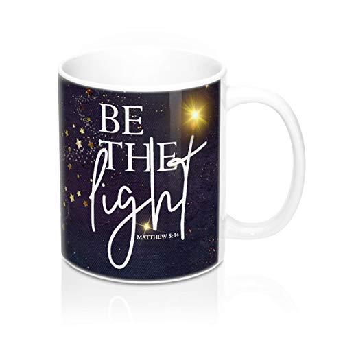 565pir Sei das Licht Sei das Licht Becher Christlicher Becher Christlicher Kaffeebecher Bibel Versbecher Religiöser Becher Schriftbecher Spiritueller Becher Navy Becher
