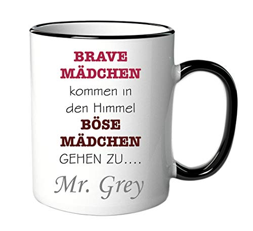 geschenke-fabrik Taza Mr. Grey – Böse Girl – para fans de Shades of Grey