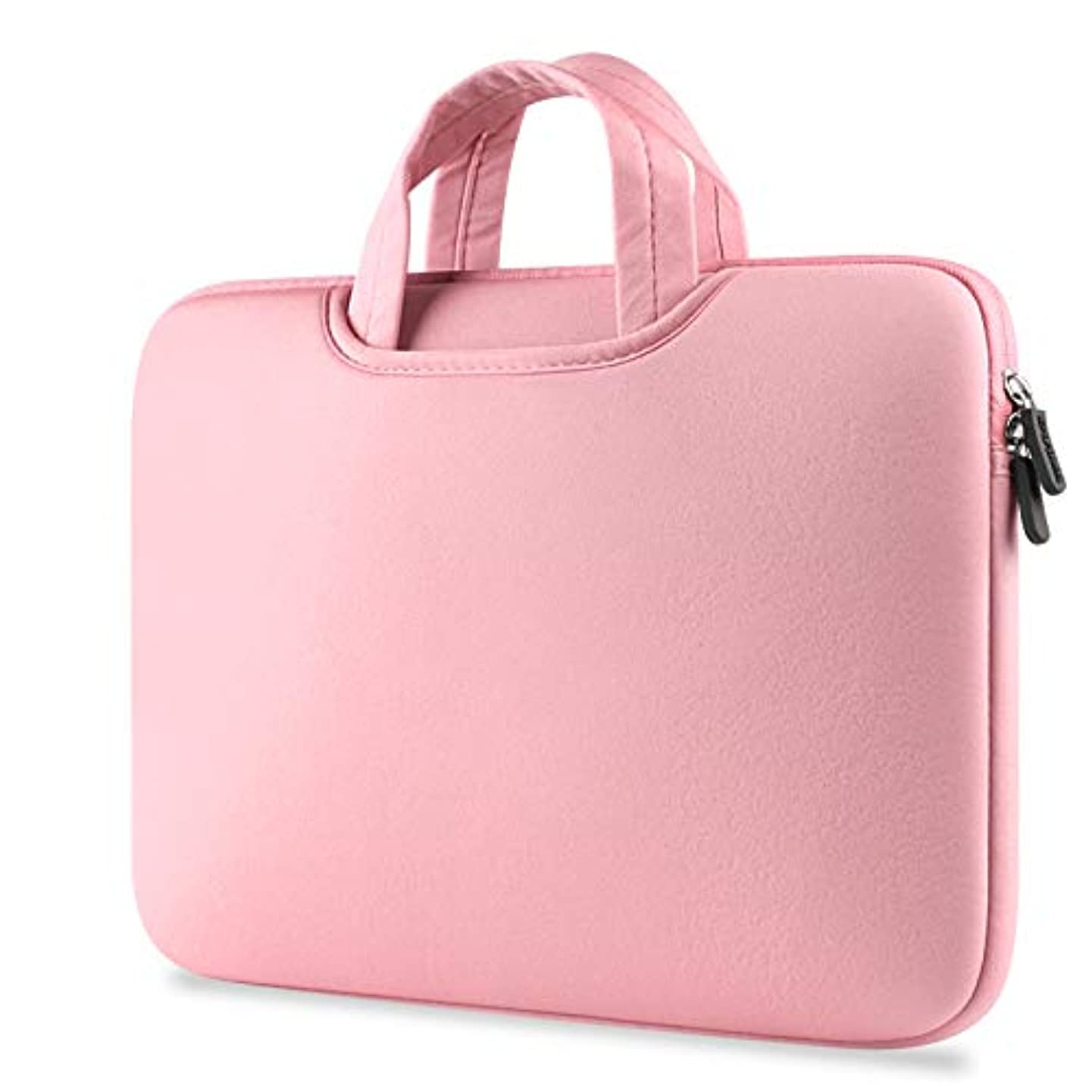 Sammid Sleeve Case for MacBook Pro 15 inch, 15.6 inch Protective Notebook Carrying Bag Case with Pocket and Handle for Most 15.6 Inch Laptop, Notebook, MacBook etc - Pink