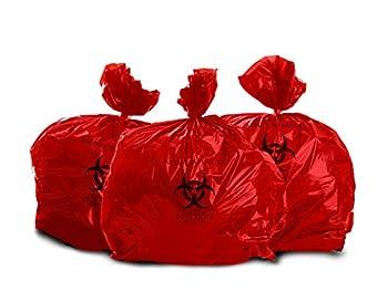 Oakridge Heavy Duty 10 Gallon Biohazard Waste Disposal Bags  Roll of 100  - Professional Grade