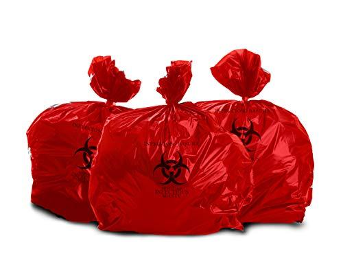 Bulk Priced Heavy Duty Biohazard Bags by The Roll (10 Gallon) (25 Bags)