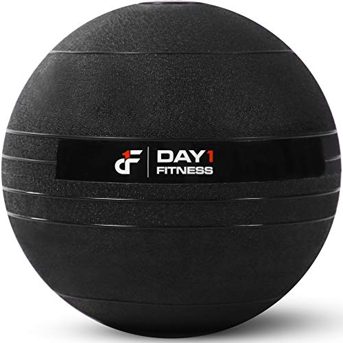 Day 1 Fitness D1SB20 Weighted Slam Ball by – 20 lbs - No Bounce Medicine Ball - Gym Equipment Accessories for High Intensity Exercise, Functional Strength Training, Cardio, CrossFit.