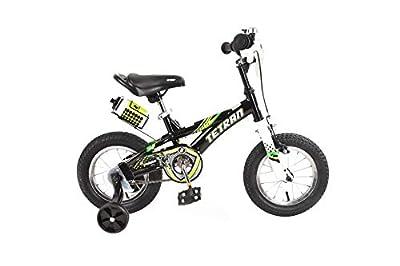 Tetran Knight Boy's Freestyle BMX Bike - Red/Black/Blue (Black, 12 inch)
