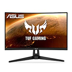27-inch WQHD (2560x1440) 1500R curved gaming monitor with ultrafast 165Hz refresh rate (supports 144Hz) designed for professional gamers and immersive gameplay ASUS Extreme Low Motion Blur (ELMB ) technology enables a 1ms response time (MPRT) togethe...