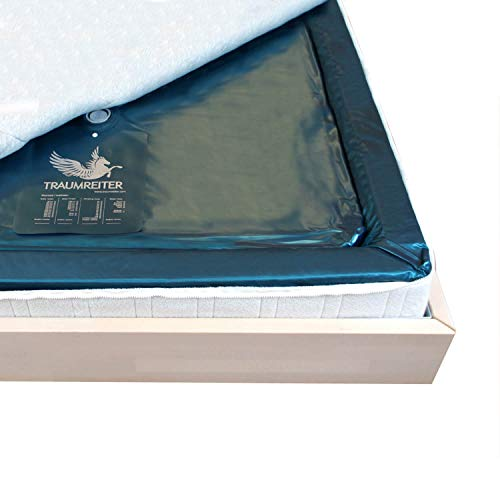 Traumreiter Wasserbettmatratze Softside Dual (120% Ultra beruhigt & fest (0 Sek.) Wasserkern-Matratze 90x200 Wassermatratze für 180x200 Softside Dual Wasserbett 180 x 200